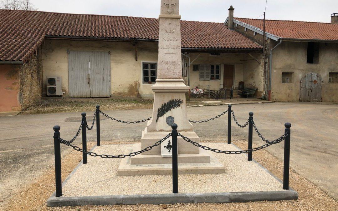 2018 – Restauration du monument aux morts à Chazelles